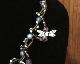 Dragonflies in Flight necklace
