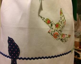 Birds in a Wire waist apron