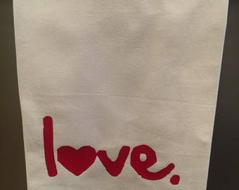 Love Hand/Dish Towel