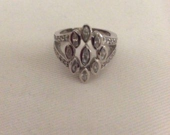Sterling silver zirconia womens ring