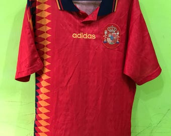 Vintage Adidas Spain Soccer Made In Tunisia