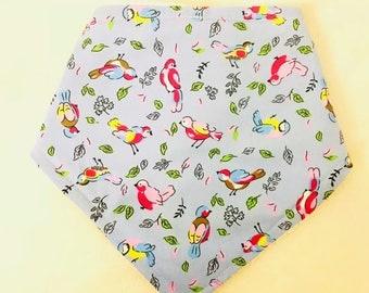 Bird print Bandana Bib