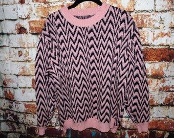 80's Retro Zig-Zag Sweater size S-L