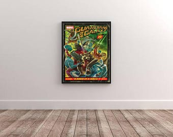Marvel Guardians of the Galaxy Vintage Poster