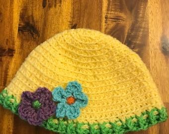 Crochet Flower Hat