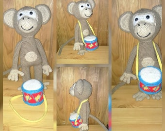 Drumkey the little monkey and his drum model croc's betty