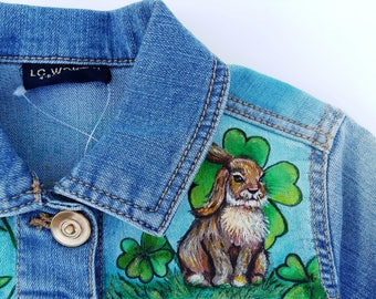 Hand Painted Denim Jackets, Custom Designed Denim Jacket, Acrylic Denim Jacket, Handmade Denim Jacket, Jacket with art work