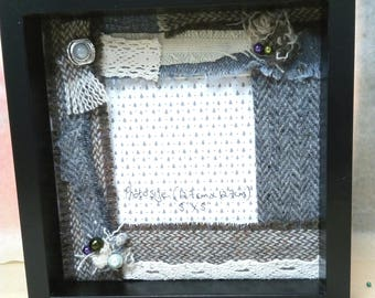Handmade Donegal tweed photo frame