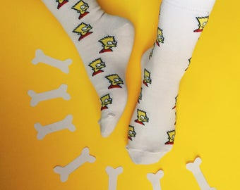 Bart Socks | Colorful Socks | Unique Socks | Men Socks | Women Socks | Soberay