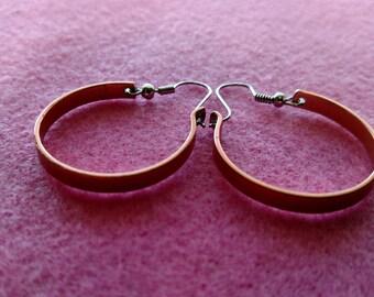 """3"""" Copper Hoop Earrings"""