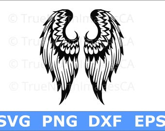 Angel Wings SVG / Angel SVG / Feather Wings SVG / Memorial svg / svg Files for Cricut / Silhouette Files