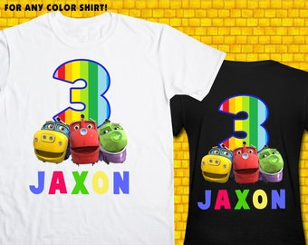 Chuggington / Iron On Transfer / Boy Birthday Shirt Design / DIY Shirt / High Resolution / For Any Color T Shirt / 12 Hours Turnaround Time