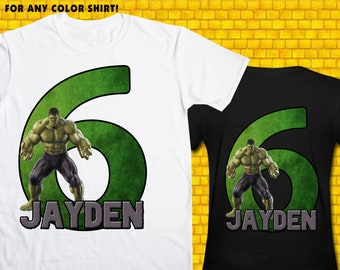 Incredible Hulk / Iron On Transfer / Boy Birthday Shirt Design / DIY Shirt / High Resolution / For Any Color T Shirt / 12 Hours Time