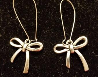 Boutique Silver Alloy ... Cute Fancy Bow Earrings  #C67