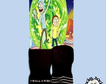 Rick & Morty Socks || FREE SHIPPING ||