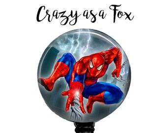 Spiderman Retractable Badge Holder, Badge Reel, Lanyard, Stethoscope ID Tag, doctor, md, pa, cna  Nurse, rn, teacher, student  Gift