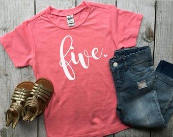 Fifth birthday shirt | birthday shirt | five shirt | girl birthday shirt | girl fifth birthday shirt | birthday outfit |