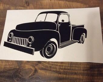 Vintage Truck Decal || Sticker