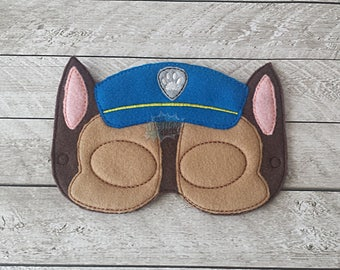 Police Paw Masks Puppy, Hero, Working Dog, Patrol, Inspired Mask, Pretend Play, Imagination