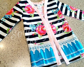 Toddler/Girl's Open Front Cardigan