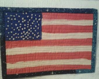 "Flag Wall Hanging 8.5"" x 6"""