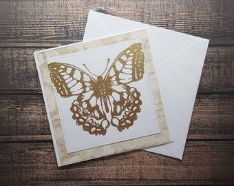 Gorgeous Golden Buttefly