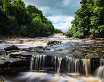 Lower falls at Aysgarth.