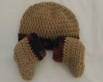 Timber Colored Crotchet Hat and Booties