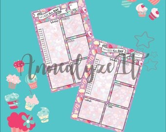 Mini Happy Planner - Cupcake Nation Daily Layout (Purple)