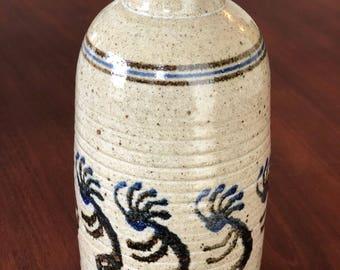 Mel Cornshucker kokopelli vase