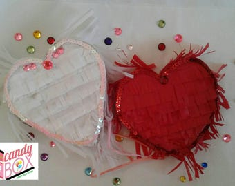 Fabulous Heart Mini Piñata Rhinestones & Sequins