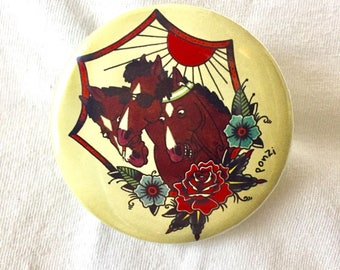 "56 mm Round Brooch ""Pharaoh's Horseman"""