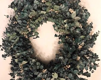 Handmade dried Eucalyptus Wreath   front door   farmhouse   home decor   wedding