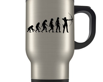 Archery Travel Mug, archery gift, archery gift idea, archery gift for women, gift for archery, archer gift, archer travel mug, bow and arrow