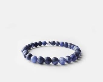 Natural Sodalite Bead Bracelet 6mm