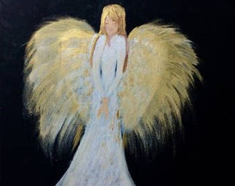 Angel in the Light print