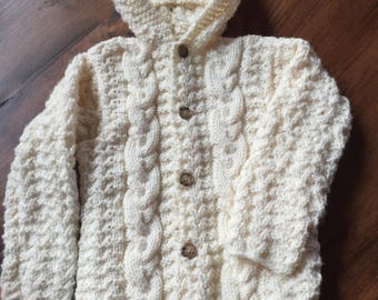 Children's Cozy Cabled Cardigan