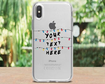 Stranger Things case IPhone X case Personalized case iPhone 8 Plus case Custom Gift case iPhone 7 case Stranger Lights case iPhone 6S iPod 5