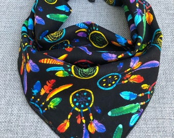 Dream Catcher Tie Dog Bandana, Dog Bandana