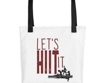Let's HIIT It tote bag