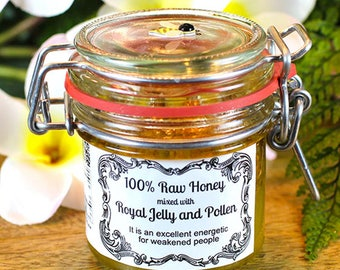 Raw Honey mixed with Royal Jelly and Pollen (125 ml)