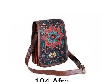 Handmade dhurrie kilim messenger/ shoulder bag
