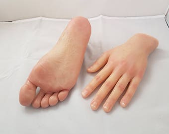Silicone hand and foot.