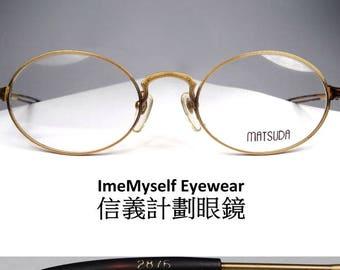 ImeMyself Eyewear Matsuda 2876 Vintage Oval Optical Frames Royal Eyeglasses