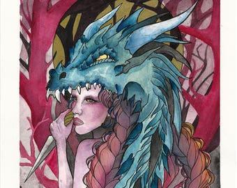 Dragongirl Print (30x21cm)