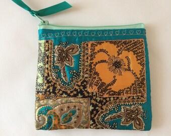 Little Bag, Cosmetic bag, Make up Bag, Silk Bag
