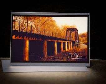 Spavinaw Creek Railroad Bridge Photo Card