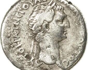 nerva didrachm caesarea of cappadocia ef(40-45) silver
