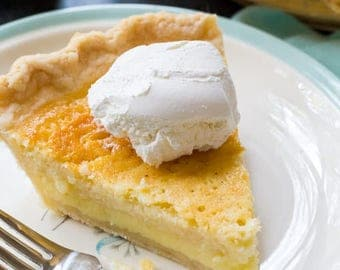 Southern Buttermilk Pie- Southern Chess Pie- Soul food desserts- Homemade Desserts