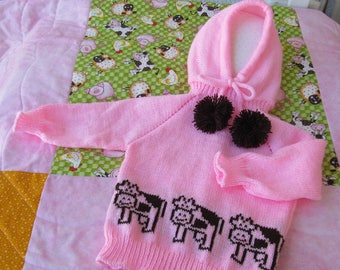 Pink Back Zip Sweater